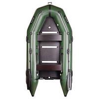 Моторная надувная килевая лодка Bark BN-330S четырехместная с жестким днищем