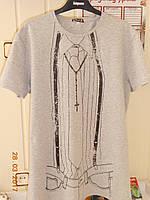 Молодежная мужская футболка с крестиком