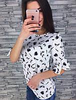 Блуза разных цветов