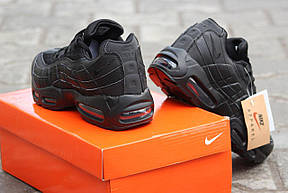 Крутые кроссовки Nike air max 95  черные 36р, фото 3