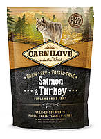 Carnilove Salmon & Turkey Large Breed Adult корм для собак крупных пород, с лососем и индейкой, 1.5 кг
