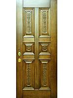 Элитные уличные входные двери (массив ясеня) модель Леон