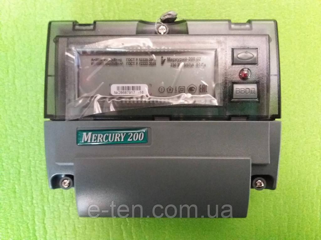 Счетчик учета электроэнергии многотарифный однофазный Меркурий 200
