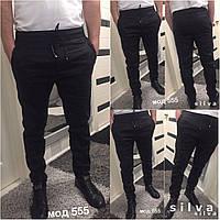 Мужские штаны!!!, ткань лен стретч цвет чёрный , фото реал супер качество нн1 № 555