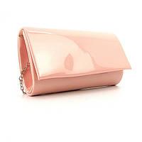 Розовая мини-сумка Rose Heart лаковая на цепочке