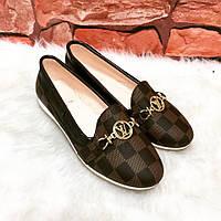 Балетки Louis Vuitton коричневые