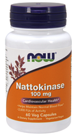 Наттокиназа, Now Foods, Nattokinase 100mg 60 vcaps