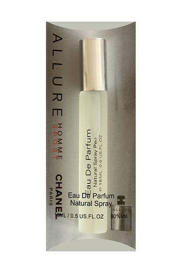 Мини парфюм мужской Chanel Allure Homme Sport (Шанель Аллюр Хом Спорт), 15 мл.