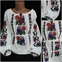 """Блуза с вышивкой для девочки """"Мальовнича краса"""", домотканка, рост 128-158 см, 390/340 (цена за 1 шт. + 50 гр.)"""