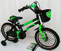 """Детский Велосипед 16 """"HAMMER"""" S500 Черно-Зеленый, фото 1"""