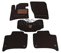 Двухслойные коврики Sotra Premium 10mm Choco для Porsche Cayenne (mkII) 2010->