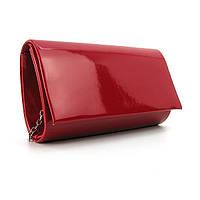 Бордовая сумка-мини лаковая на цепочке