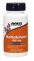 Наттокиназа, Now Foods, Nattokinase 100mg 120 vcaps