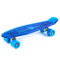 Пенни борд (penny board) со светящейся декой JP-HB-21B (синий)