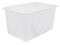 Контейнер для хранения вещей пластиковый прозрачный 22 л 550Х375Х155 мм Алеана ALN-122042
