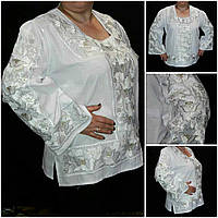 "Богатая вышитая блуза для женщин ""Княжеские маки"", 42-56 р-ры, 1450/1300 (цена за 1 шт. + 150 гр.)"
