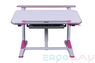 Детская парта растишка трансформер Ergoway T350L Pink, фото 2