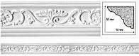 Потолочный карниз с орнаментом. Декоративная гипсовая лепнина
