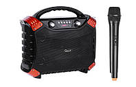 Портативная колонка с радиомикрофоном QUER-0837 - 40W (USB/FM/Bluetooth)