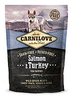 Carnilove Salmon & Turkey Puppy корм для щенков, с лососем и индейкой, 1.5 кг