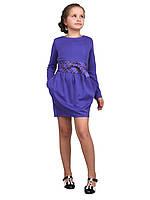 Платье  детское с длинным рукавом   М -1076 рост 152 трикотажное, фото 1