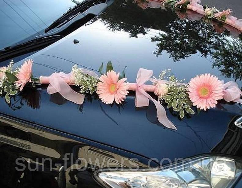 Свадебные украшения на машину, лимузин, украшения