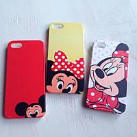 Дизайнерский пластиковый чехол с Минни и Микки Маус для iPhone 5/5s/se
