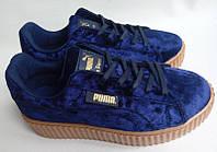 Кроссовки криперы Puma Rihanna велюр(MT)
