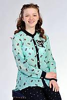 Стильная подростковая блузка с принтом коты