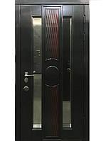 Элитные входные двери для коттеджа (массив + ковка) модель Хамелеон