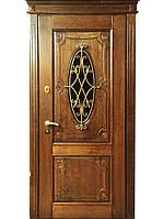 Элитные входные двери для коттеджа (массив + ковка) модель Мироу