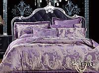 Евро комплект постельного белья сатин жаккард Tiare 1703