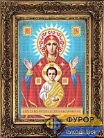 Схема иконы для вышивки бисером - Образ Пресвятой Богородицы Знамение, Арт. ИБ3-035-1
