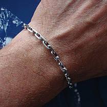 Серебряный браслет, 225мм, 20 грамм, плетение Якорь, фото 3