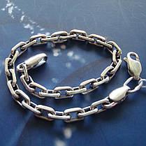 Серебряный браслет, 225мм, 20 грамм, плетение Якорь, фото 2