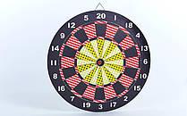 Мішень для ігри в більярд з пресованої гумі BL-67325 17in Baili (d-43см,в комплекті 6 дротиків 8g)