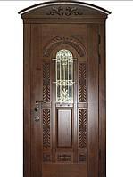 """Элитные входные двери для коттеджа (массив + ковка) модель """"Флоренция 2"""""""