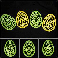 Яйцо из фетра - заготовка для творчества, цвет - зеленый, 12 см., 10 гр.