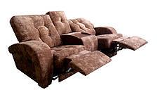 Двухместный диван-реклайнер с баром Винс, фото 3