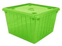 Контейнер для хранения вещей пластиковый прозрачный цветной 25 л 400Х400Х270 мм Алеана ALN-122043