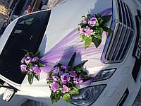 Украшение из цветов на свадебное авто