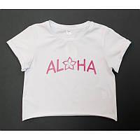 Футболка подростковая для девочки, белая ALOHA
