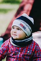 Набор мальчика(шапка+хомут) Фостер DemboHouse р.44 01e0e5c001169
