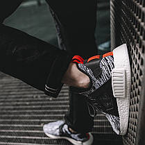 Мужские кроссовки Adidas NMD XR1 Primeknit Glitch White/Black, фото 2