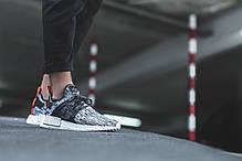 Мужские кроссовки Adidas NMD XR1 Primeknit Glitch White/Black, фото 3