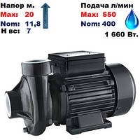 Насос центробежный,2DK20,Sprut .Напор-20/11,8м.Подача-400-550, л/мин.220В.1660Вт.