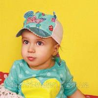 Стильная кепка для девочки Шери мятный Dembohouse   р.44,46,48