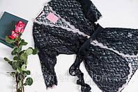 Халат женский Ellen LND 033/002 черный валентинка р.S,M,L L, чёрный
