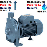"Насос центробежный,CPm158,""Насосы+"".Напор-30/20м.Подача-70-108,3, л/мин.220 В.980Вт."
