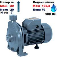 "Насос центробежный,CPm-158/AISI316,""Насосы+"".Напор-30/20м.Подача-70-108,3, л/мин.220 В.980 Вт."